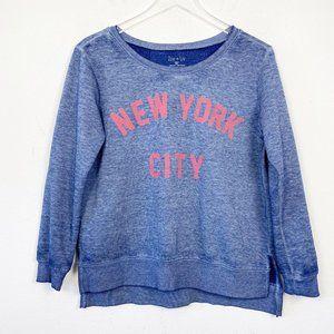 Zoe + Liv Navy New York City Pullover Sweatshirt M